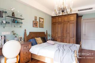 80㎡美式复古风卧室装修效果图