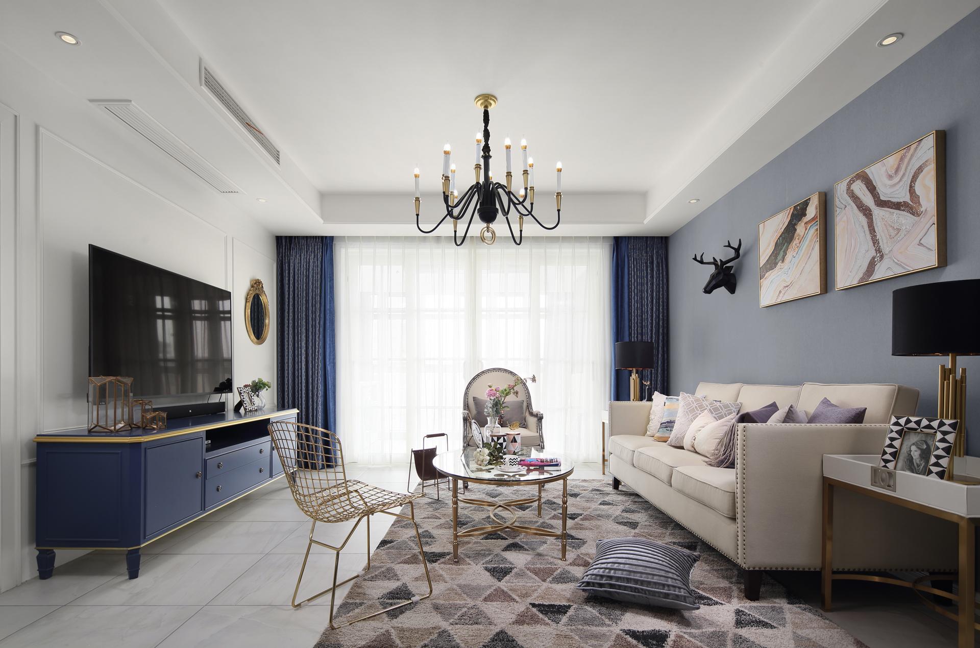混搭风格四居客厅装修效果图