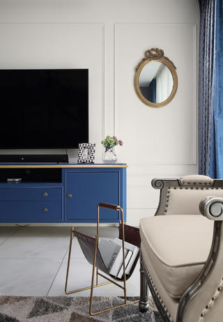 混搭风格四居装修电视柜设计图