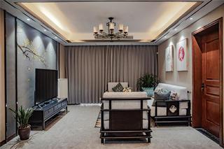120㎡新中式客厅装修效果图
