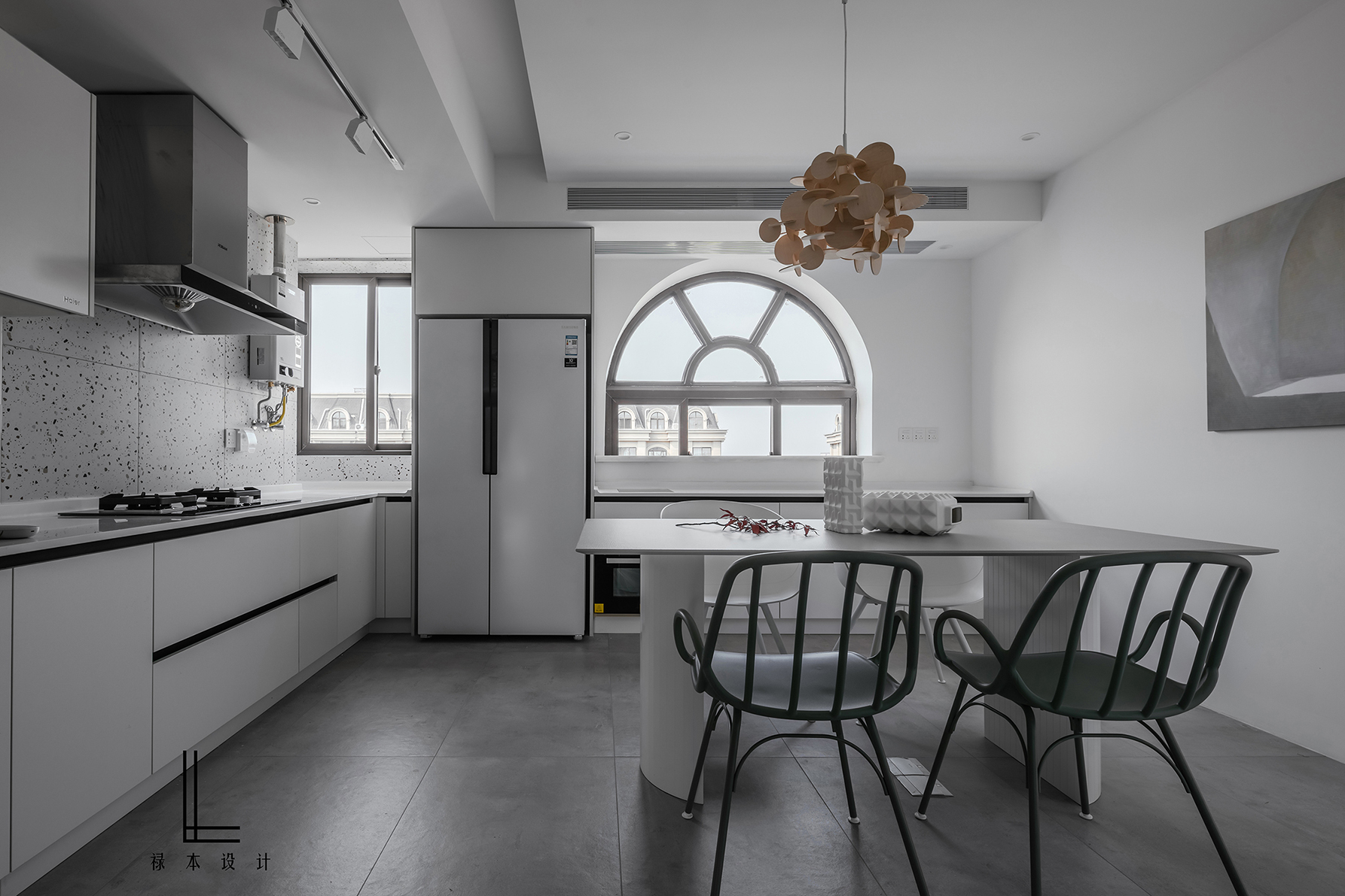 200平简约复式装修厨餐厅效果图