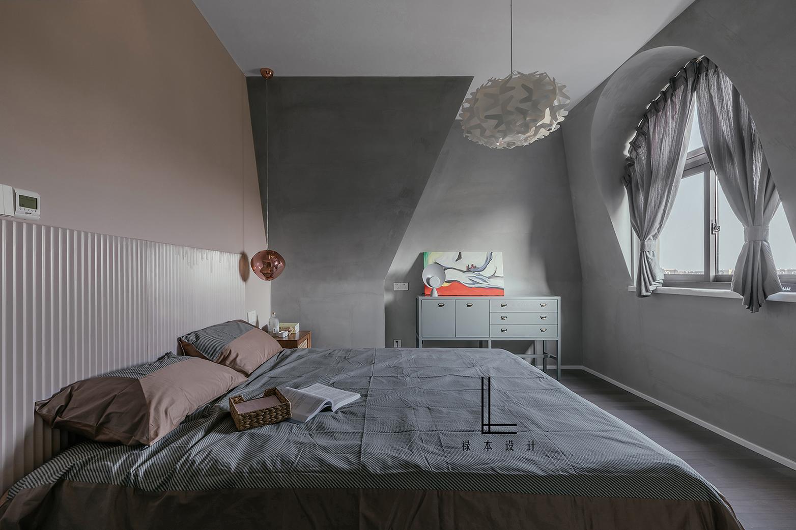 200平简约复式装修卧室效果图