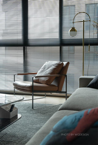 140㎡现代风三居室装修休闲椅设计图