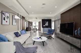 142平米三居室客廳裝修效果圖