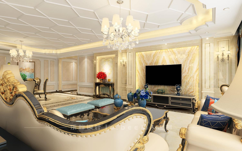 大户型欧式风格客厅电视墙装修效果图