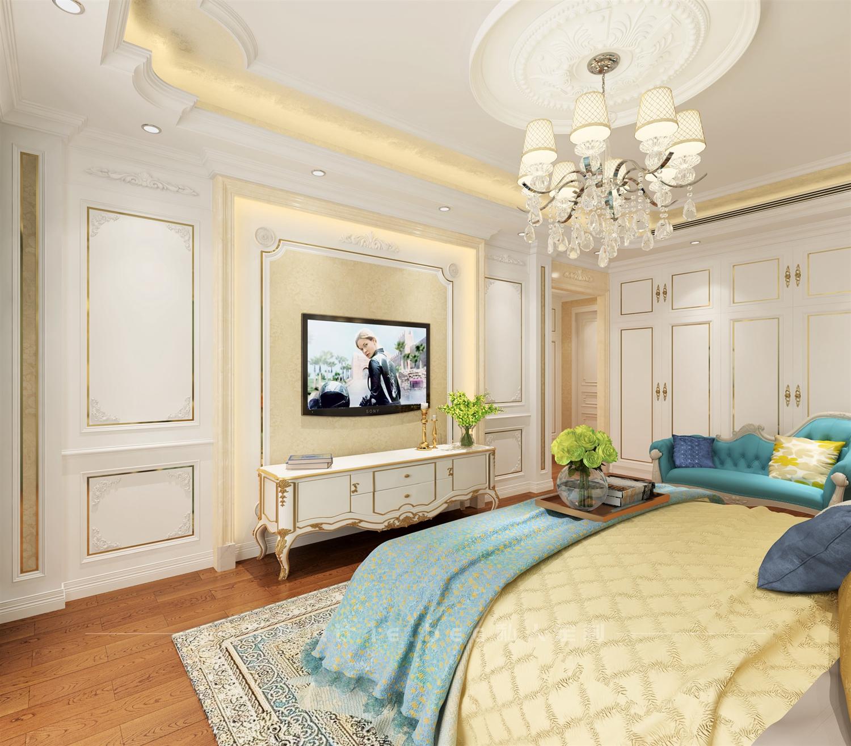 大户型欧式风格卧室电视墙装修效果图