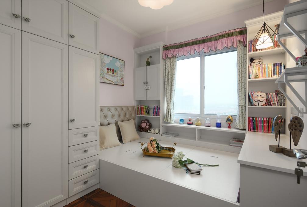美式风格二居室榻榻米装修效果图