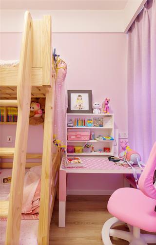 北欧风格三居室装修儿童房一角