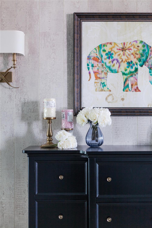 170㎡美式风格装修玄关柜装饰图片