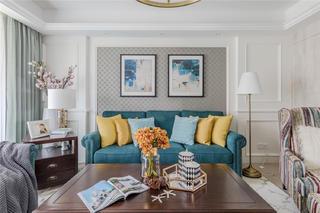 170㎡美式风格沙发背景墙装修效果图