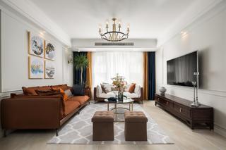140㎡美式风格客厅装修效果图