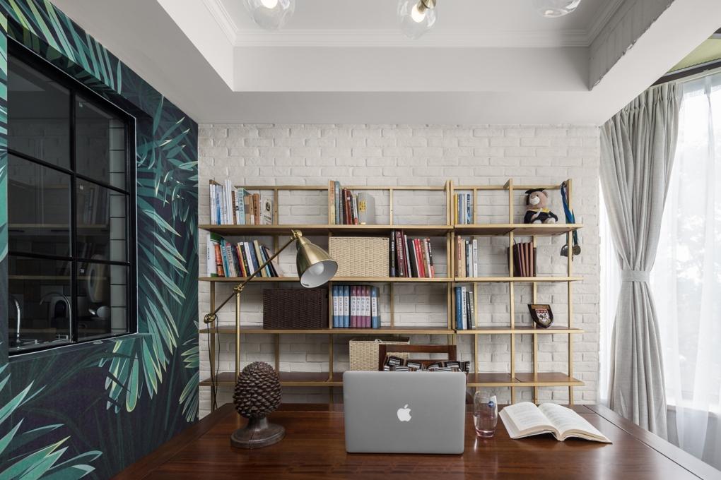 140㎡美式风格书房装修效果图