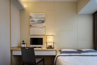 新中式风格三居卧室背景墙装修效果图