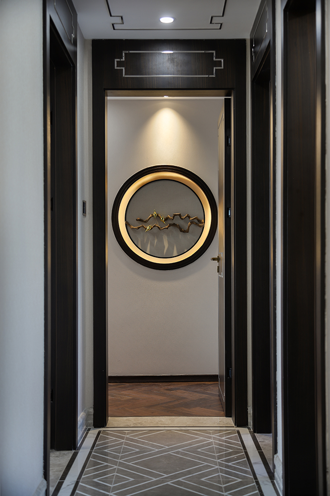 新中式风格三居走廊装修效果图