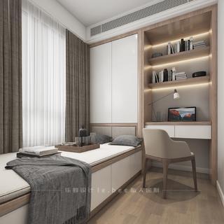 现代简约三居室榻榻米书房装修效果图