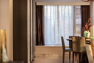 新中式风格三居室餐厅飘窗装修效果图