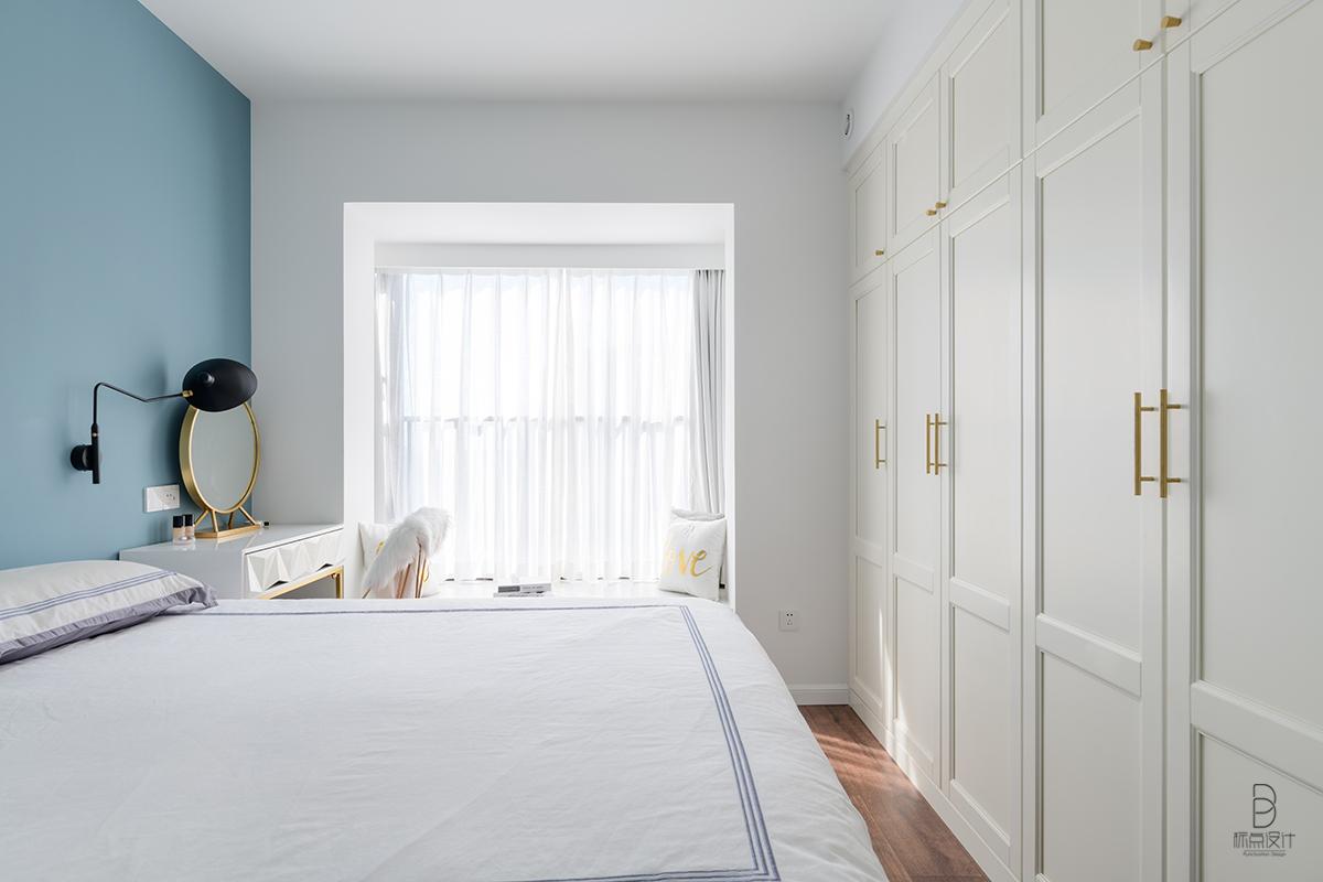 87㎡现代北欧风卧室装修效果图