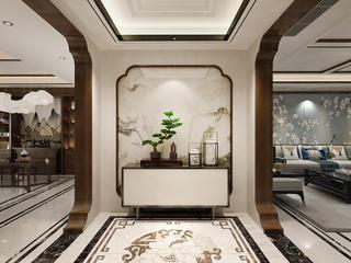 新中式风三居室玄关装修效果图