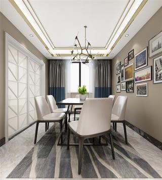 现代轻奢风格三居餐厅装修效果图