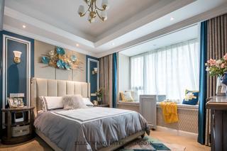 大户型美式风格卧室装修效果图