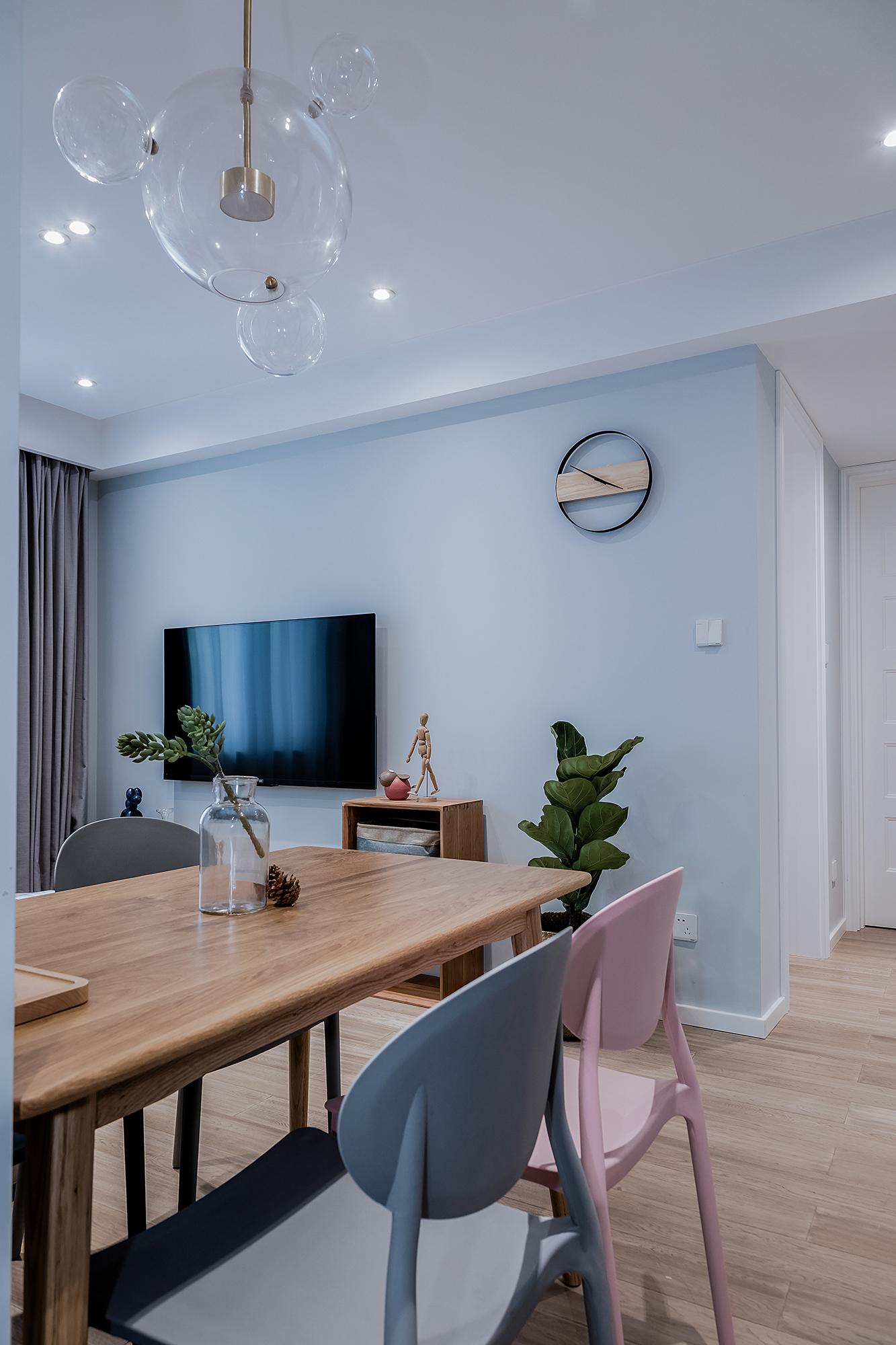 小户型北欧风格电视背景墙装修效果图