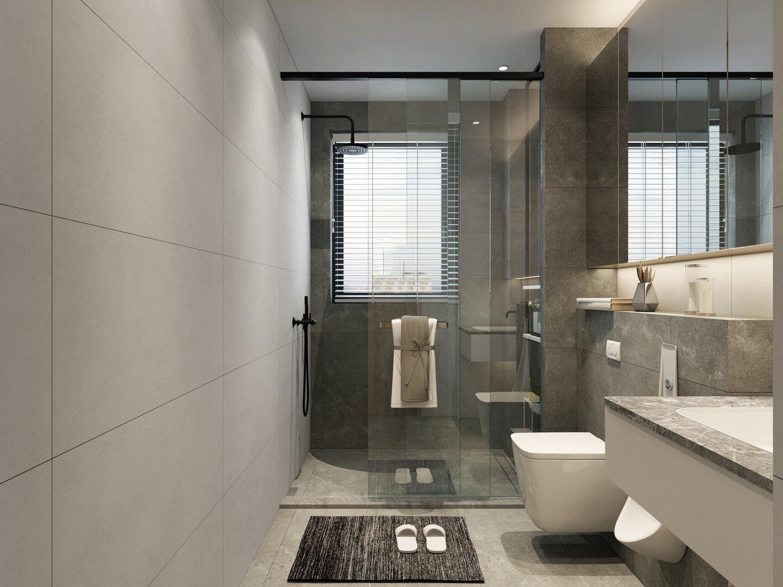简约现代两居卫生间装修效果图