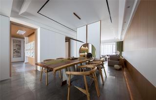 现代日式风格三居餐厅装修效果图