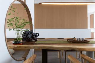 现代日式风格三居装修餐桌设计图