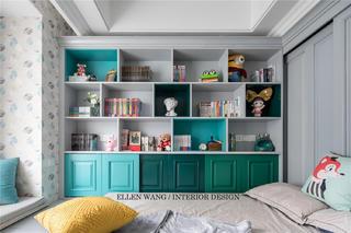 大户型美式风格装修书柜设计图