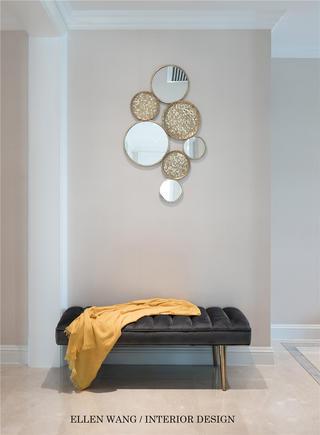大户型美式风格装修门厅换鞋凳设计