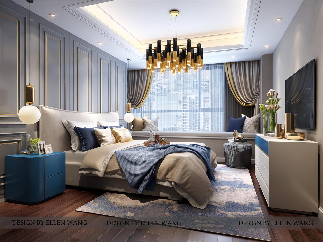 摩登时尚现代风卧室装修效果图
