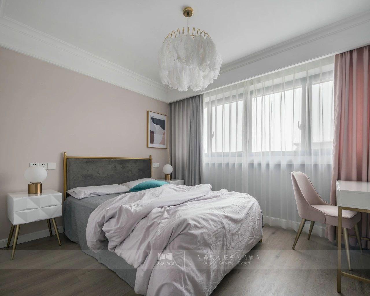 110㎡复式轻奢风卧室装修效果图
