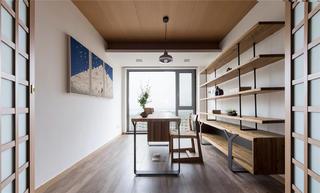 现代日式风格三居书房装修效果图