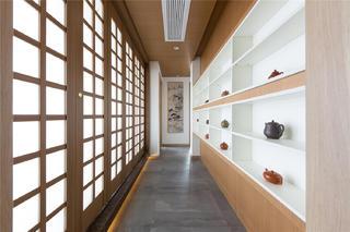 现代日式风格三居走廊装修效果图