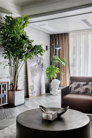 130平混搭风格装修客厅一角