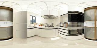三居室现代简约厨房装修效果图