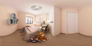 三居室现代简约儿童房装修效果图