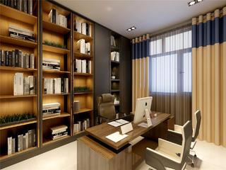 现代简约轻奢风书房装修效果图