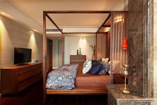 东南亚风格二居卧室装修效果图