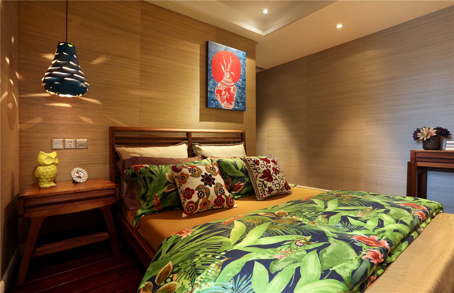 东南亚风格二居卧室每日首存送20