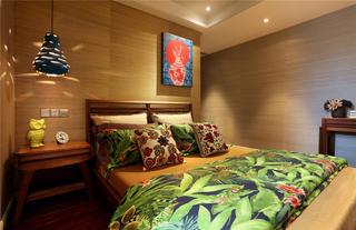 東南亞風格二居臥室裝修效果圖