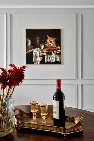 103平美式风格装修餐厅挂画设计