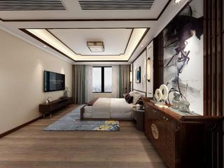 140平米新中式风卧室装修效果图
