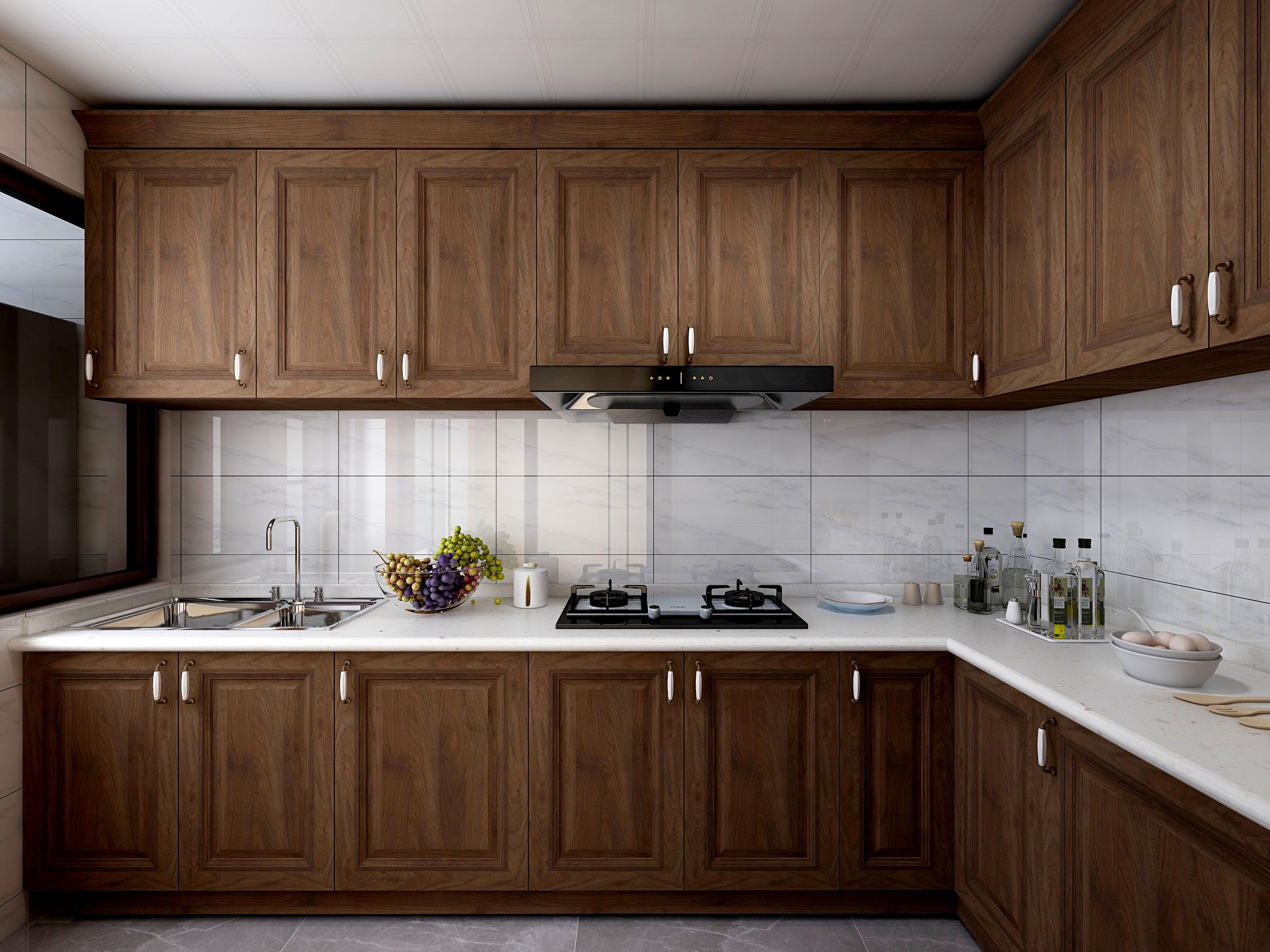 140平米新中式风厨房装修效果图