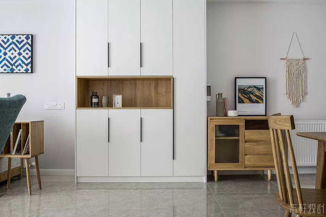北欧风格三居室储物柜装修效果图
