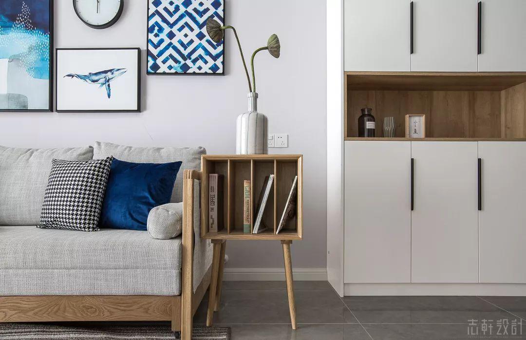 北欧风格三居室装修杂志柜设计