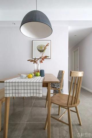 北欧风格三居室装修餐桌椅设计图