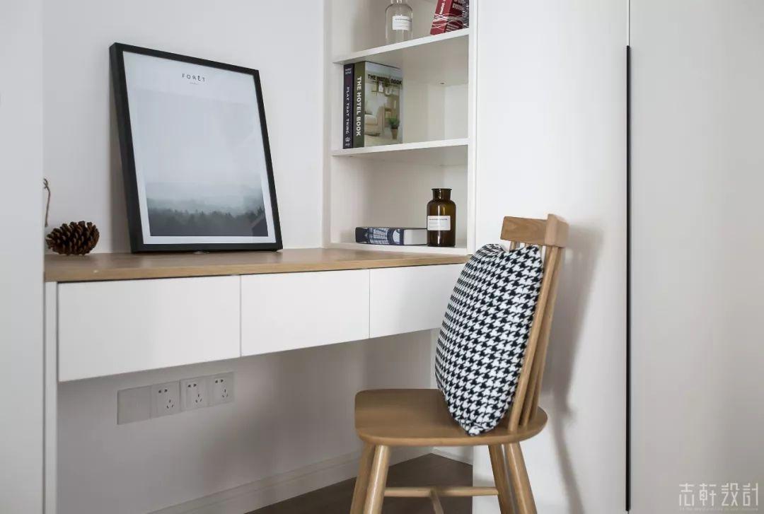 北欧风格三居室装修书桌设计图