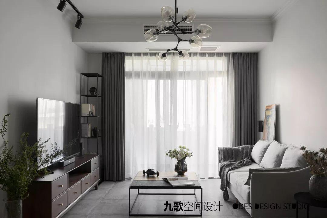 现代风二居室客厅装修效果图