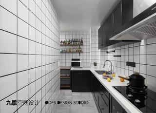 现代风二居室厨房装修效果图